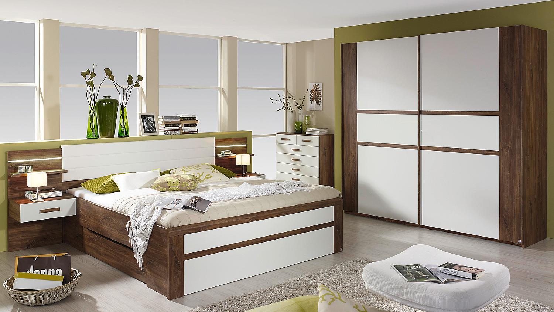 schlafzimmer set bernau in eiche stirling und wei. Black Bedroom Furniture Sets. Home Design Ideas