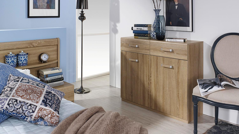 kommode cham sideboard anrichte kombikommode sonoma eiche. Black Bedroom Furniture Sets. Home Design Ideas