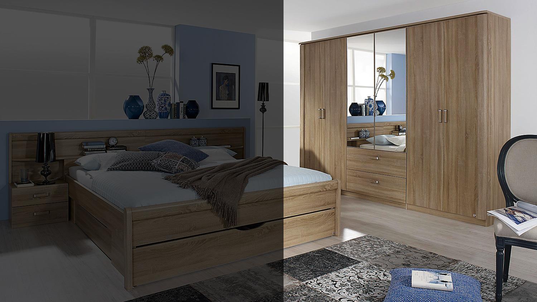 kleiderschrank cham schrank sonoma eiche mit spiegel 271. Black Bedroom Furniture Sets. Home Design Ideas