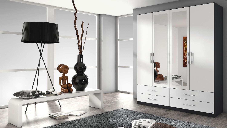 kleiderschrank hersbruck schrank wei grau metallic 181. Black Bedroom Furniture Sets. Home Design Ideas