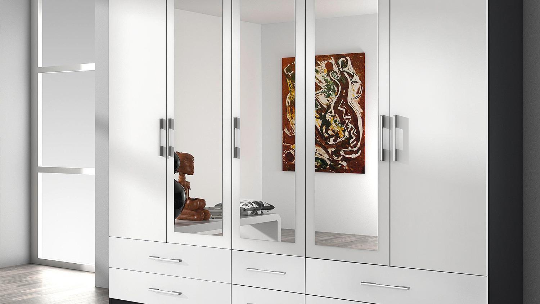 kleiderschrank hersbruck schrank wei grau metallic 226. Black Bedroom Furniture Sets. Home Design Ideas