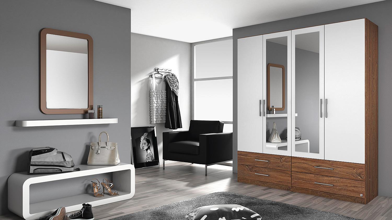kleiderschrank hersbruck extra in wei eiche stirling 181. Black Bedroom Furniture Sets. Home Design Ideas