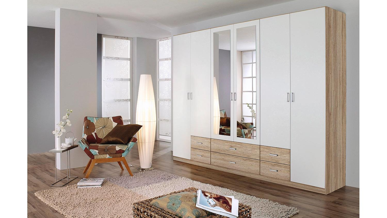 kleiderschrank gammas schrank in wei eiche sonoma 271. Black Bedroom Furniture Sets. Home Design Ideas