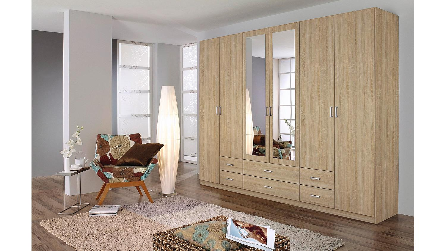kleiderschrank gammas schrank in eiche sonoma 271. Black Bedroom Furniture Sets. Home Design Ideas