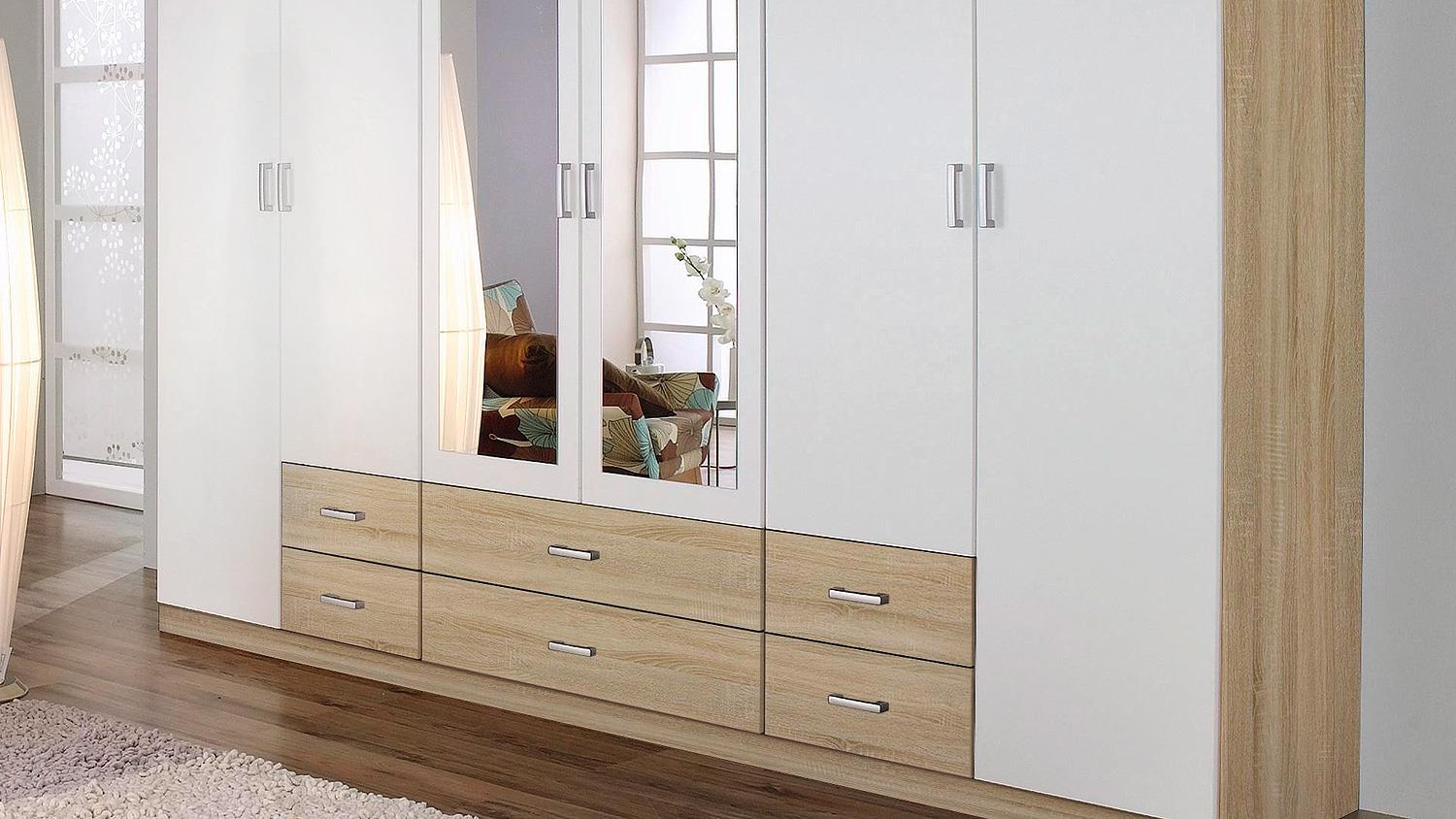 kleiderschrank gammas schrank wei eiche sanremo hell 271. Black Bedroom Furniture Sets. Home Design Ideas