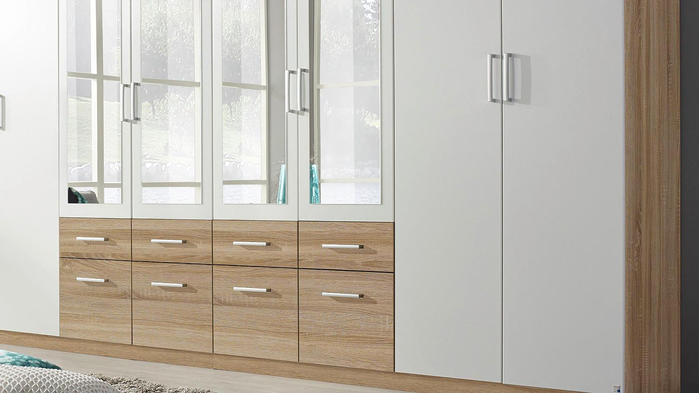kleiderschrank bingen wei und sonoma eiche 8 t rig. Black Bedroom Furniture Sets. Home Design Ideas