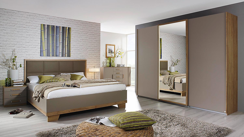 schlafzimmer set 1 altona bett nako schrank fango eiche riviera led. Black Bedroom Furniture Sets. Home Design Ideas