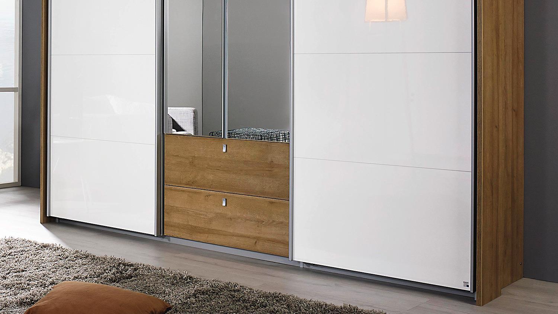 schwebet renschrank kombino eiche riviera wei hochglanz. Black Bedroom Furniture Sets. Home Design Ideas