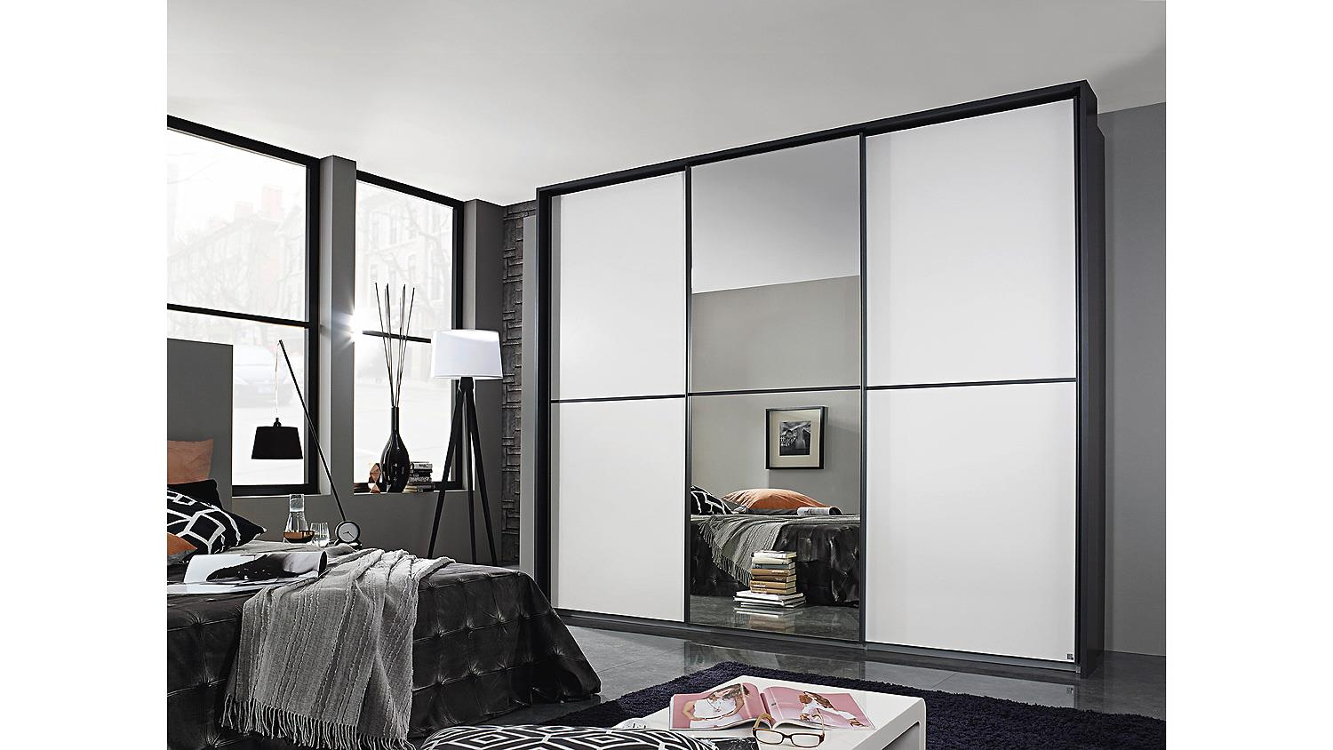 schwebet renschrank essensa schrank in grau metallic wei spiegel 271. Black Bedroom Furniture Sets. Home Design Ideas