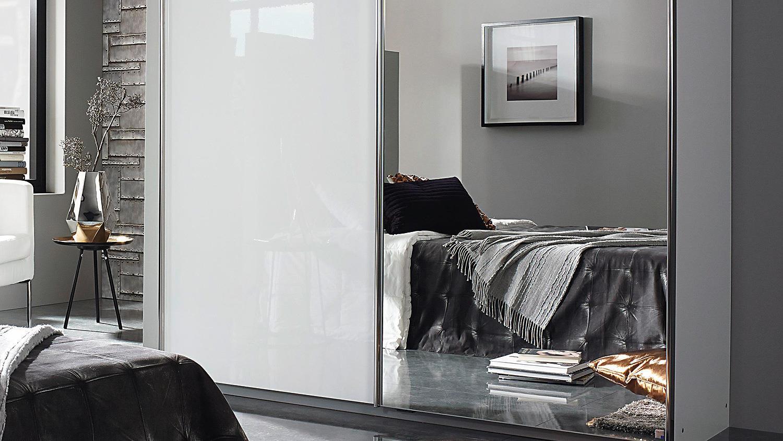 Kleiderschrank weiß hochglanz mit spiegel  ESSENSA Schrank in weiß Hochglanz mit Spiegel 271