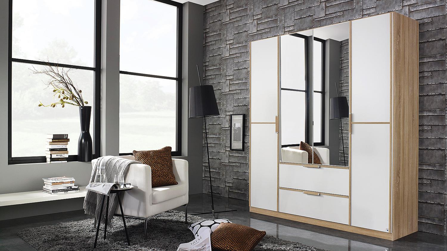 schwebet renschrank essensa schrank wei glas sonoma eiche. Black Bedroom Furniture Sets. Home Design Ideas