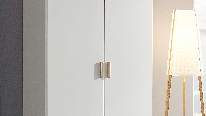 FALUN Schrank in weiß und Esche Coimbra 92 cm