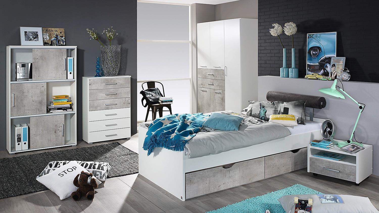 bett mailo umbauliege liege f r jugendzimmer in wei 90x200. Black Bedroom Furniture Sets. Home Design Ideas