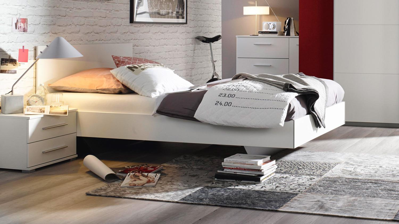 bett minosa futonbett bettgestell f r jugendzimmer in wei. Black Bedroom Furniture Sets. Home Design Ideas
