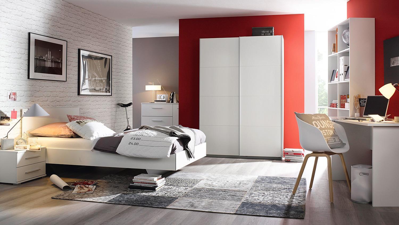 bett minosa futonbett bettgestell f r jugendzimmer in wei 120x200 cm. Black Bedroom Furniture Sets. Home Design Ideas