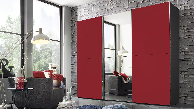 schwebet renschrank yourjoyce schranksystem schwarz rot. Black Bedroom Furniture Sets. Home Design Ideas