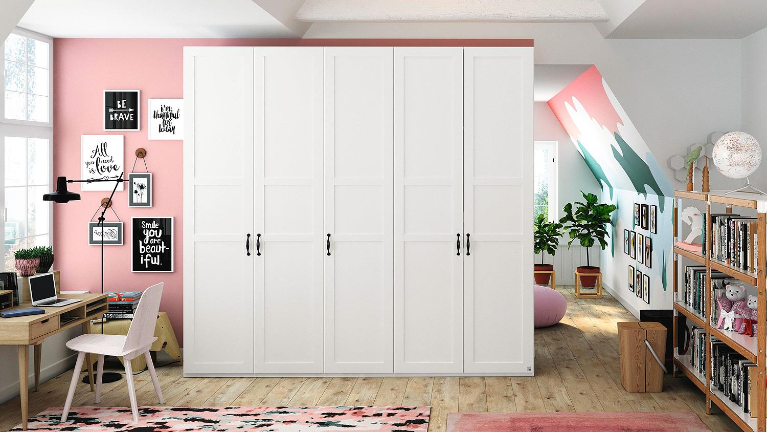 kleiderschrank yourjoyce schrank schranksystem landhaus in wei 252cm. Black Bedroom Furniture Sets. Home Design Ideas