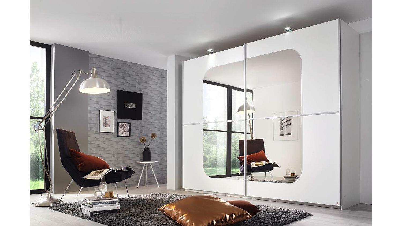 schwebet renschrank ricona kleiderschrank schrank wei mit spiegel 270. Black Bedroom Furniture Sets. Home Design Ideas