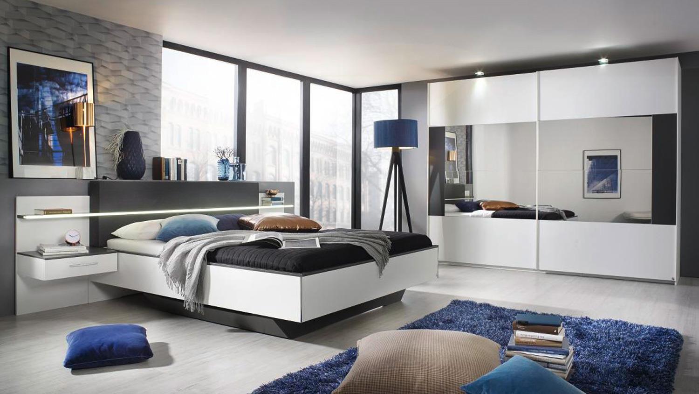 ELISSA Schrank Schlafzimmer weiß und graphit 270