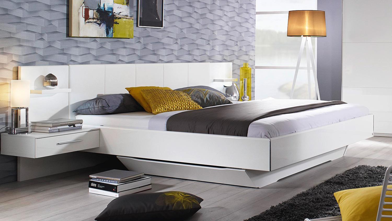 bett leonoras futonbett f r schlafzimmer in wei hochglanz 180x200. Black Bedroom Furniture Sets. Home Design Ideas