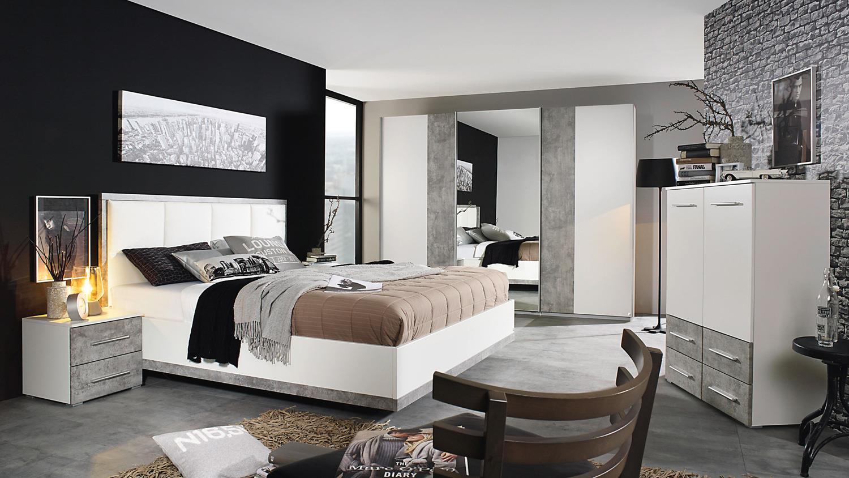 bett siegen bettgestell polsterbett in wei stone grau. Black Bedroom Furniture Sets. Home Design Ideas