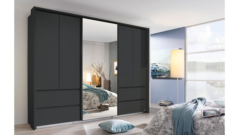 kleiderschrank wetzlar 5 t rig in grau metallic inkl. Black Bedroom Furniture Sets. Home Design Ideas