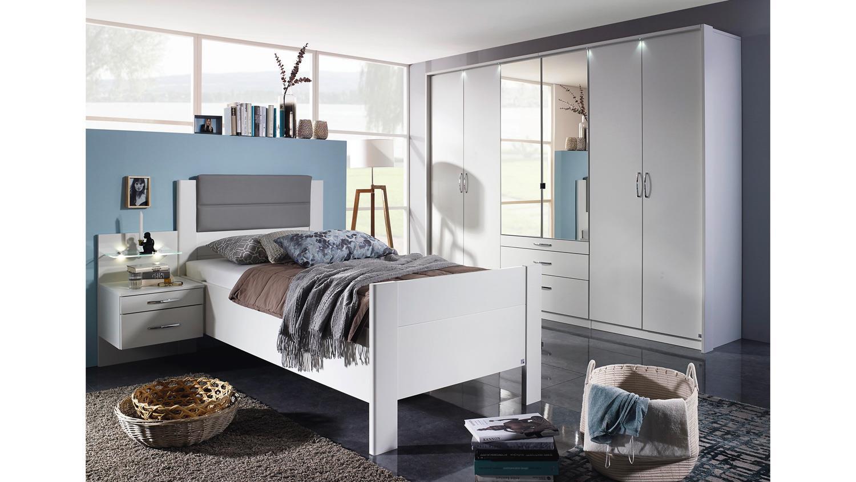 Komfort Schlafzimmer Villingen Komfortzimmer Weiss Grau Spiegel 3 Tlg