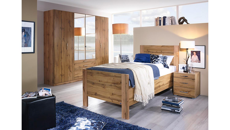 bett villingen komfortbett bettgestell eiche wotan kopfteil 100x200 cm. Black Bedroom Furniture Sets. Home Design Ideas