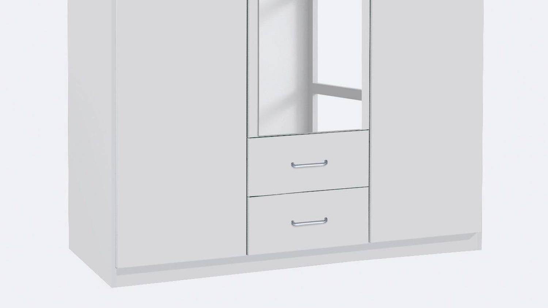 Kleiderschrank Bergheim Schrank Abschliessbar In Weiss Mit Spiegel 136