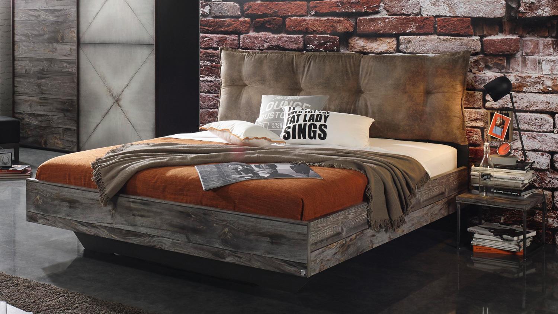 Schlafzimmer timberstyle 4 teilig graphit sunwood stahl for Schlafzimmer vintage optik