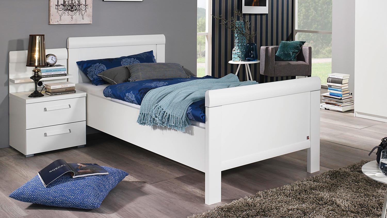 Komfortbett Evelyn Bett Bettgestell Einzelbett In Weiß 90x200 Cm