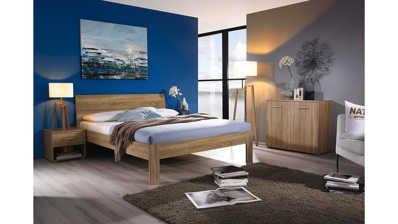 futonbett flexx bett bettgestell doppelbett in eiche sonoma 140x200 cm. Black Bedroom Furniture Sets. Home Design Ideas