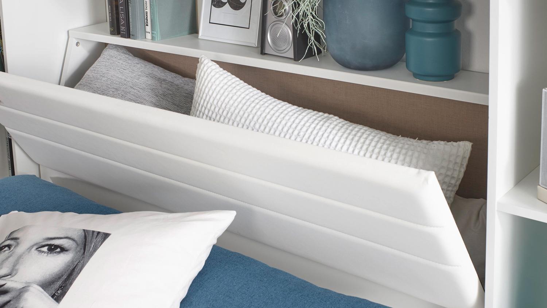 Schlafzimmer Set Mafis Bett Schrank In Grau Und Weiss