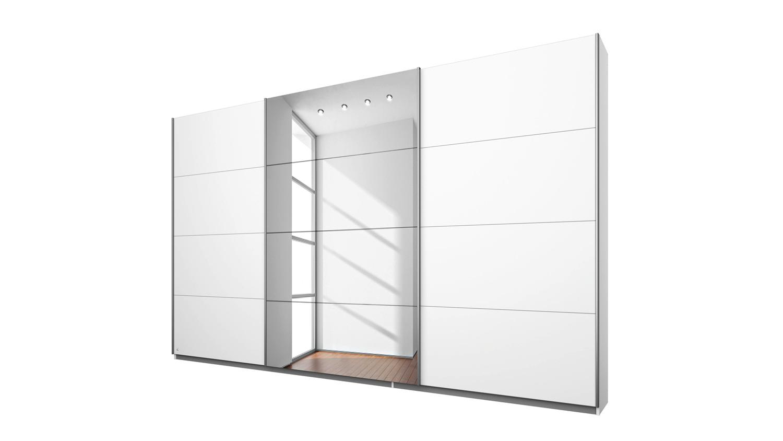 Schwebeturenschrank Kleve Schrank In Weiss Spiegel 270 Cm