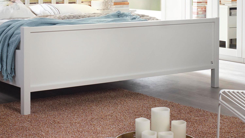 Bett MARIT Schlafzimmer in weiß Landhaus 180x200cm