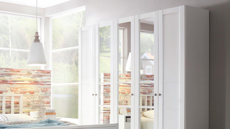 Kleiderschrank MARIT Schlafzimmer weiß Landhaus 225x223