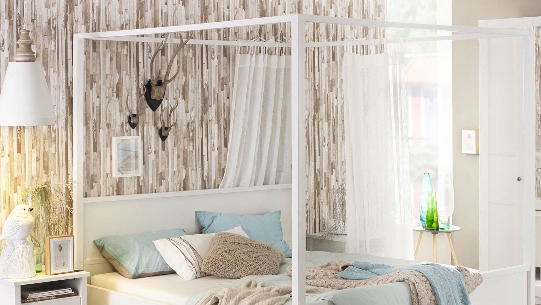 Schlafzimmer 2 MARIT Bett Schrank Kommode weiß Landhaus