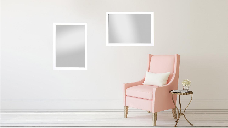 spiegel kathi 48x68 cm rahmenspiegel in wei glanz. Black Bedroom Furniture Sets. Home Design Ideas