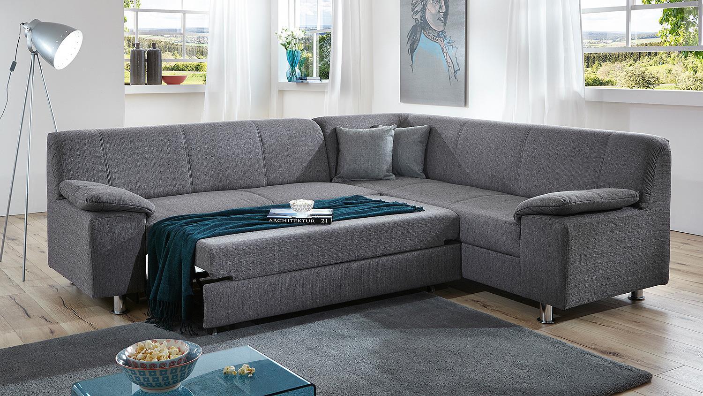Ecksofa ALAMO Wohnlandschaft Sofa in grau mit Bettfunktion -> Ecksofa Wohnlandschaft
