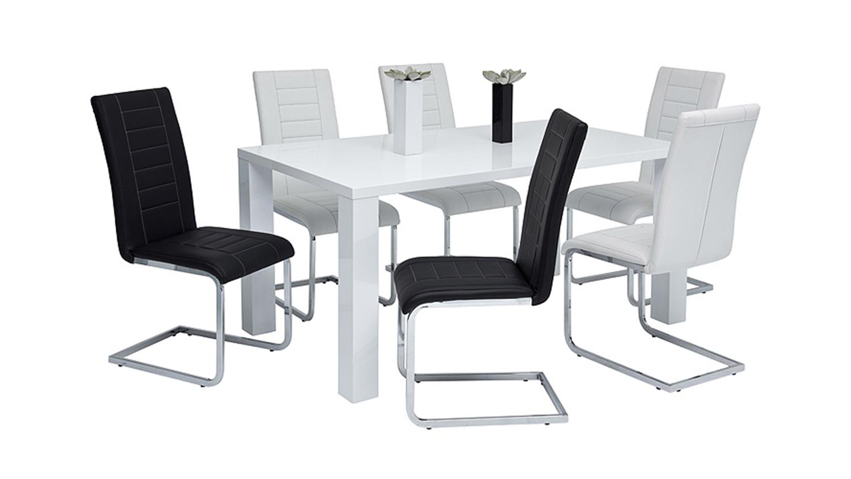 schwingstuhl ruth 3000 4er set wei chrom. Black Bedroom Furniture Sets. Home Design Ideas