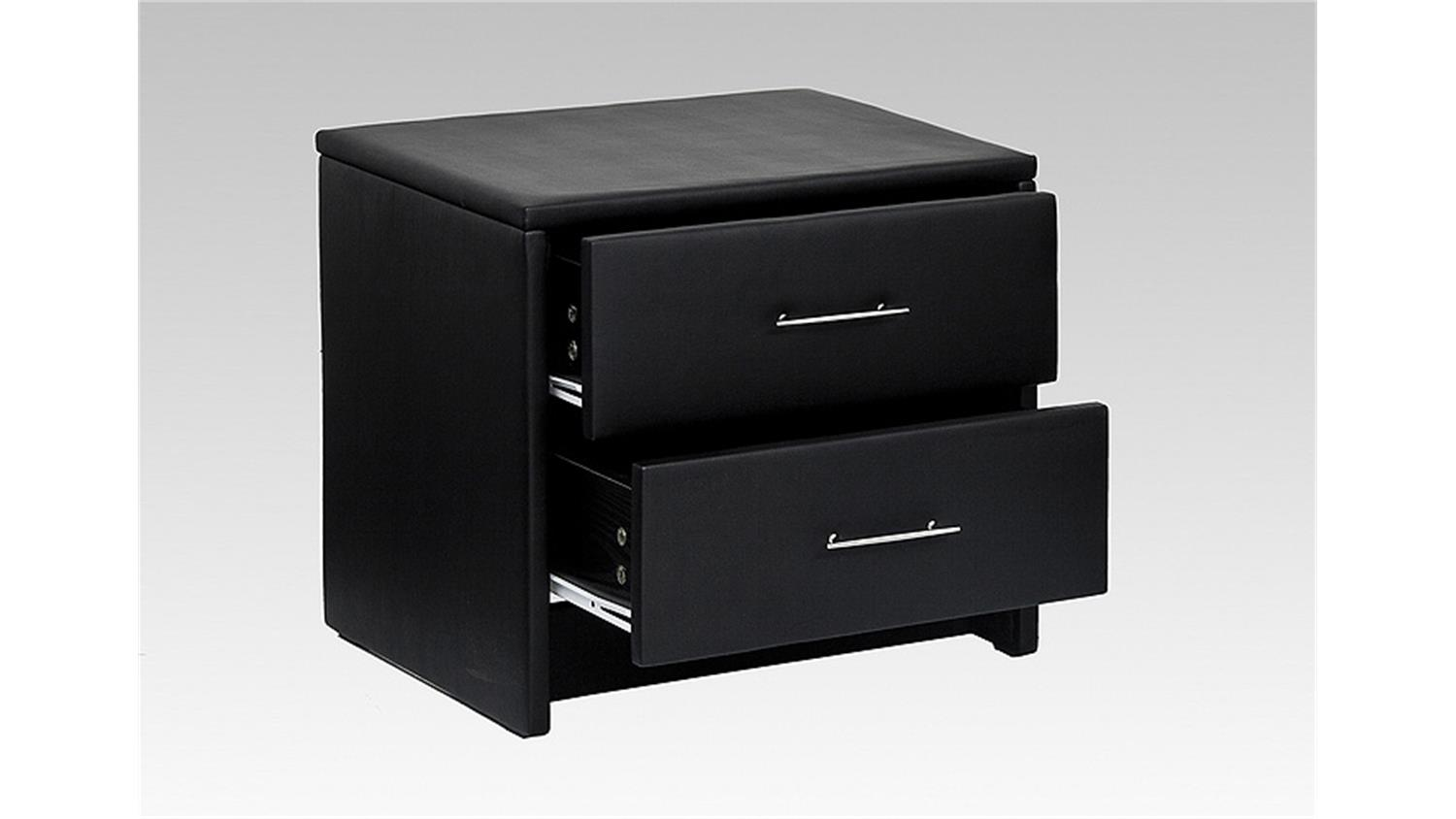 nachtkonsole helsinki nachtkommode kommode in schwarz 45 cm. Black Bedroom Furniture Sets. Home Design Ideas