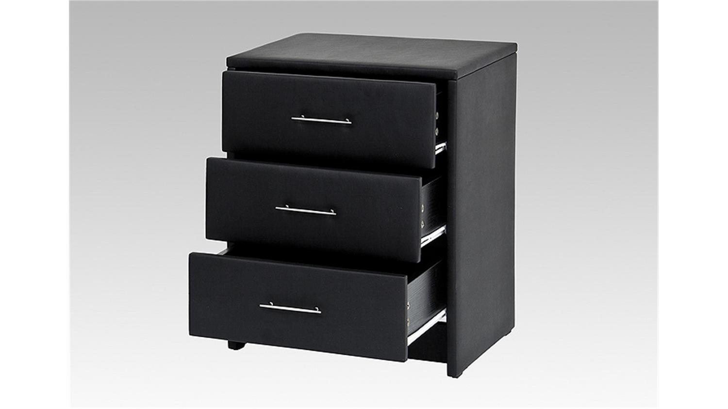nachtkonsole helsinki nachtkommode kommode in schwarz 62 cm. Black Bedroom Furniture Sets. Home Design Ideas