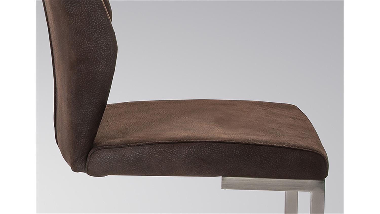 schwingstuhl madrid 4er set dunkelbraun mit griff. Black Bedroom Furniture Sets. Home Design Ideas