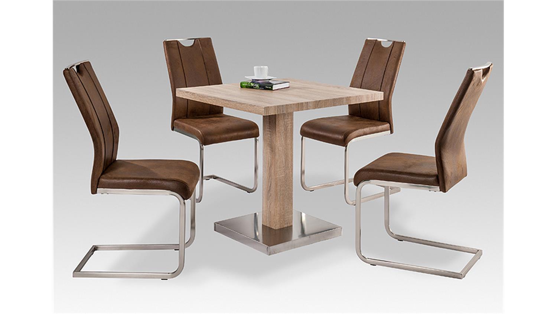 schwingstuhl trieste 4er set vintage dunkel. Black Bedroom Furniture Sets. Home Design Ideas