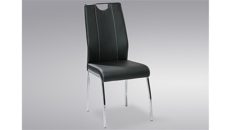 stuhl ralf 4er set schwarz mit griff und ziern hten. Black Bedroom Furniture Sets. Home Design Ideas