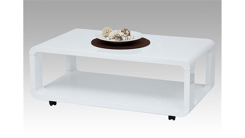 Couchtisch BILBAO MDF weiß Hochglanz 105×60 cm