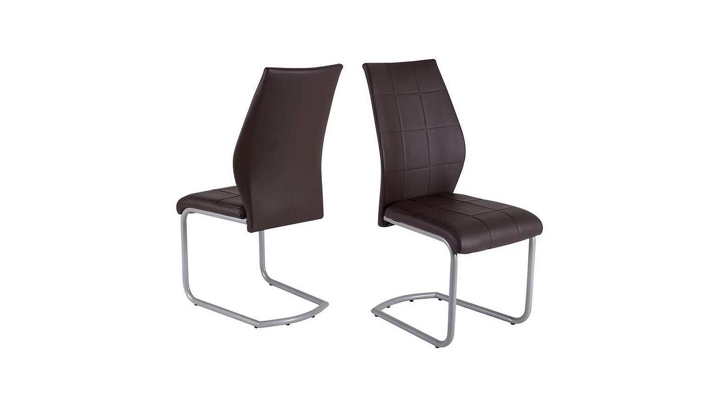 schwingstuhl 4er set lukas stuhl esszimmerstuhl dunkel braun. Black Bedroom Furniture Sets. Home Design Ideas