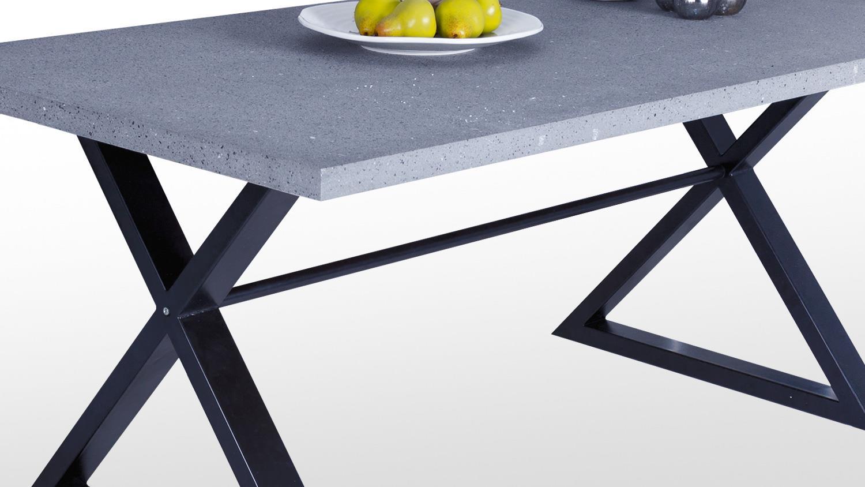 Esstisch clevland tisch esszimmertisch in beton 180x100 - Esszimmertisch betonoptik ...