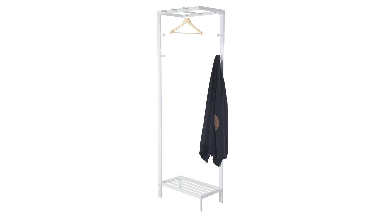 Kleiderstander Weis Metall ~ Kleiderständer jana garderobenständer metall weiß lackiert
