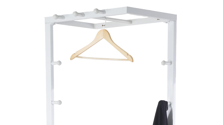kleiderst nder jana garderobenst nder metall wei lackiert. Black Bedroom Furniture Sets. Home Design Ideas
